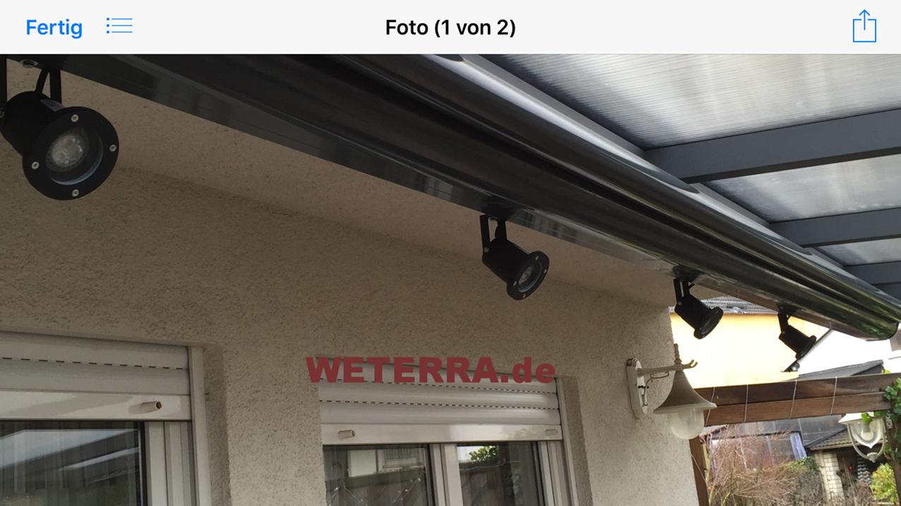 led-beleuchtung & zubehör - weterra terrassendächer, Moderne