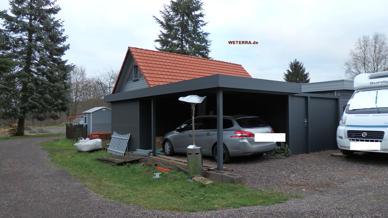 carport in baden w rttemberg bei stuttgart weterra terrassend cher. Black Bedroom Furniture Sets. Home Design Ideas
