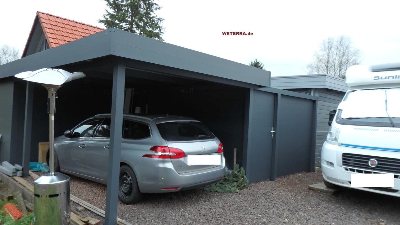 carport in baden w rttemberg bei stuttgart weterra terrassend cher. Black Bedroom Furniture Sets. Home Design Ideas